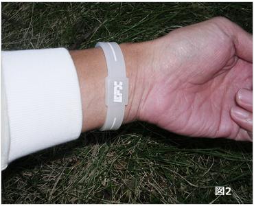 EFX リストバンド スポーツの装着イメージ