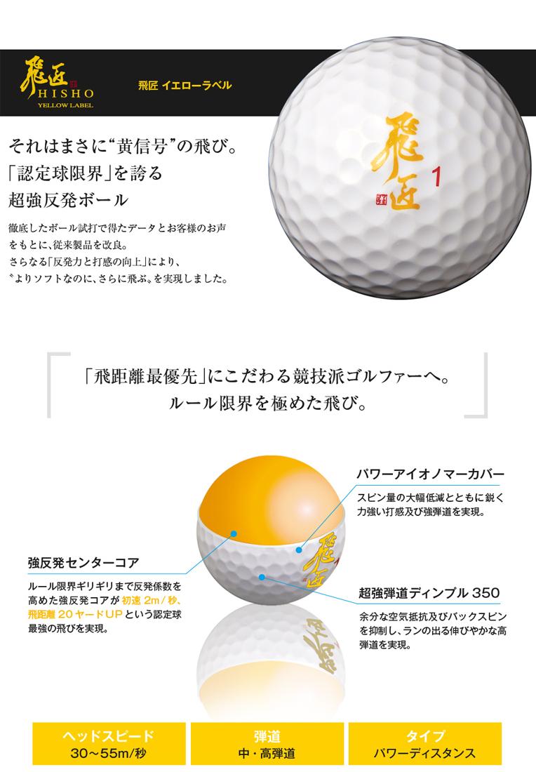 飛匠 ゴルフボール